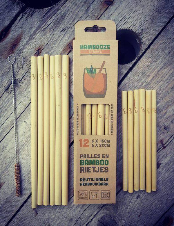 Bambooze doosjes bamboe rietjes herbruikbaar