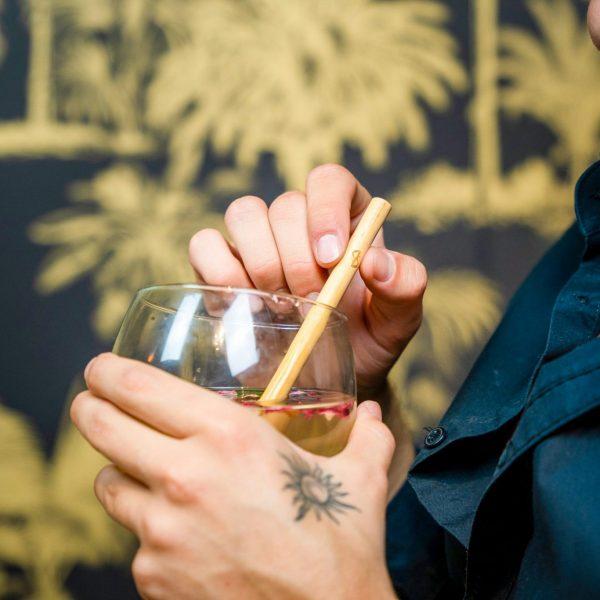 Bambooze straws cocktail